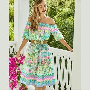 Lilly Pulitzer Camille Off Shoulder Island Dress